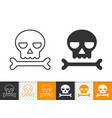 skull simple black line icon of danger vector image vector image