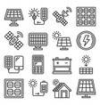 solar panel and sun energy icons set vector image vector image