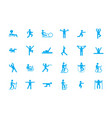 sports fitness workout icons large set training vector image