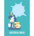 Successful career banner with businessman vector image