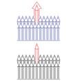 symbol pencils leadership concept vector image vector image