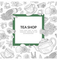 tea shop banner template with space for text vector image