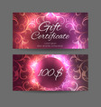 template gift certificate for yoga studio spa vector image