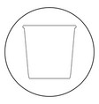trash bucket the black color icon in circle or vector image vector image