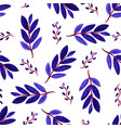 tropical watercolor leaves seamless pattern vector image