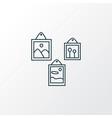 wall picture icon line symbol premium quality vector image