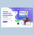 website management template man at table vector image