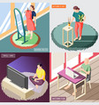 weekend at home isometric concept vector image vector image