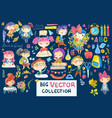 welcome back to school cute watercolor school kids vector image vector image