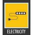 Wire socket and electric plug design vector image