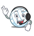 with headphone volley ball character cartoon vector image vector image