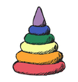 colored pyramid vector image