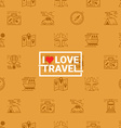 Travel concept seamless orange background vector image