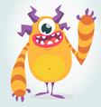 Happy orange Halloween monster vector image