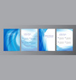 set of wavy abstract covers brochures vector image