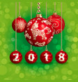 2018 new year and christmas decoration vector image vector image