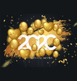 2020 background for your seasonal flyers vector image vector image