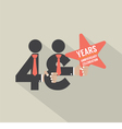 43rd Years Anniversary Typography Design vector image vector image
