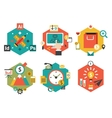 Abstract Colorful Flat Business and Finance Icons vector image vector image