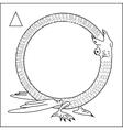 Alchemical Frame Dragon Eating Himself vector image