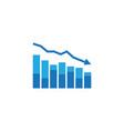 arrow decrease icon dollar money fall down symbol vector image vector image