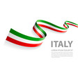banner with italian flag colors vector image