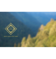 Bblurred background of mountain landscape vector image