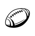 black and white rugby ball vector image vector image