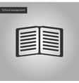 black and white style icon of school notebook vector image
