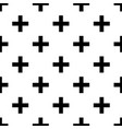 black crosses on white seamless pattern vector image vector image