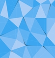 Blue polygon abstract triangle background vector image vector image
