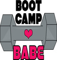 Boot Camp Babe vector image vector image