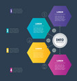 business presentation or infographic with 4 vector image vector image
