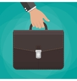businessman holding briefcase vector image