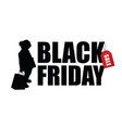 child silhouette with black friday vector image vector image
