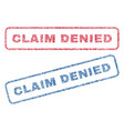 claim denied textile stamps vector image vector image