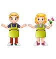 cute florist children vector image vector image