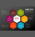 dark minimalist infographic report template with vector image vector image