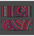 ethnic pattern cards set vector image vector image