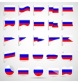 flags of Russian vector image