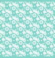 floral seamless pattern on blue vector image