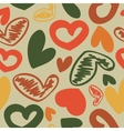 fun seamless vintage love heart background in vector image vector image