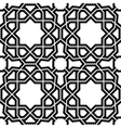 Geometric Seamless Black and White Pattern vector image