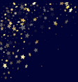 gold gradient star dust sparkle background vector image vector image