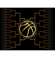 Golden Basketball Tournament Graphic vector image vector image