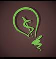 green dollar bulb vector image vector image