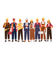 group portrait of cute happy industry or vector image