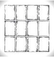 grunge frames collection monochrome gradient vector image