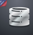 hard disk icon symbol 3D style Trendy modern vector image