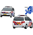 holland police car vector image vector image